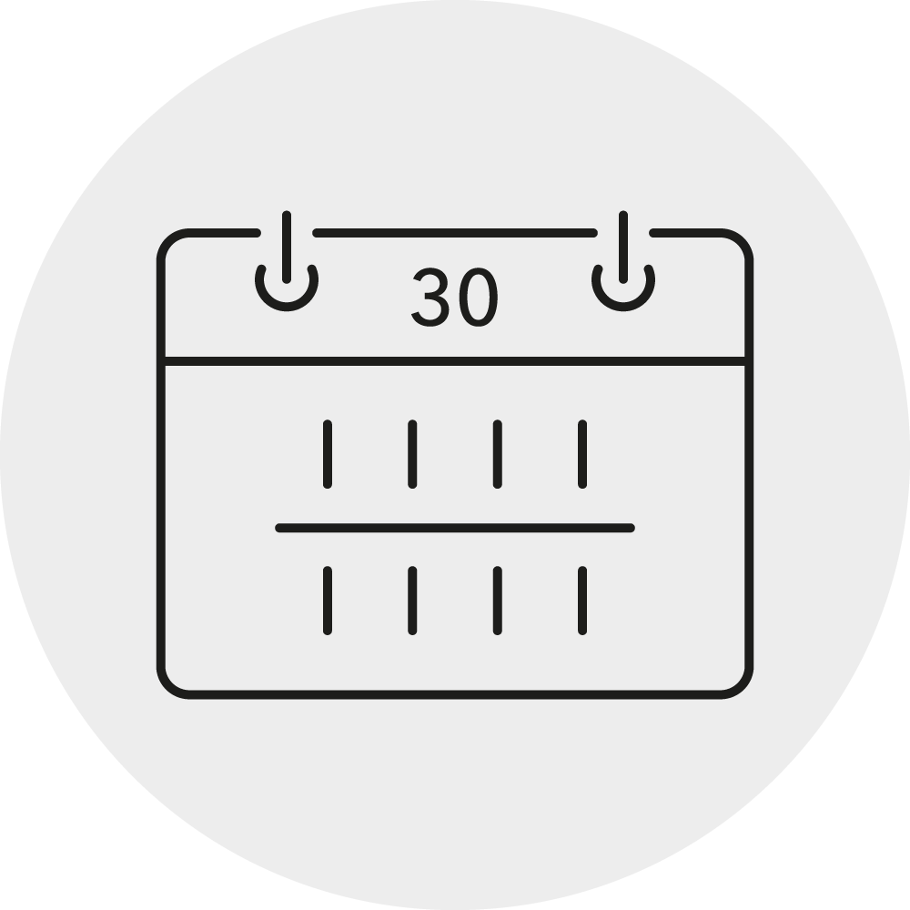 30 Tage urlaub Icon